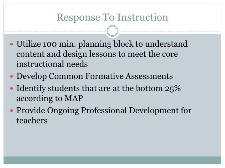 Response To Instruction