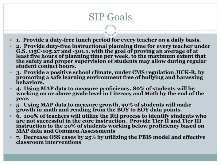 SIP Goals