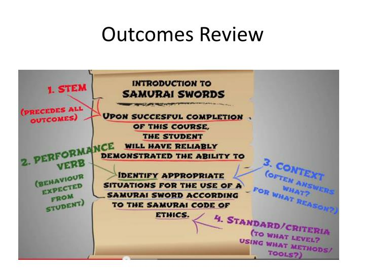 Outcomes Review