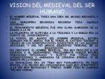 vision del medieval del ser humano