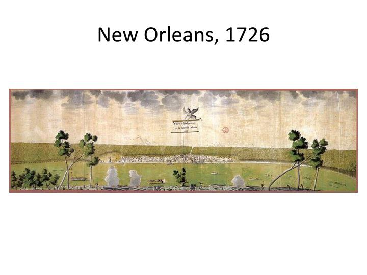 New Orleans, 1726