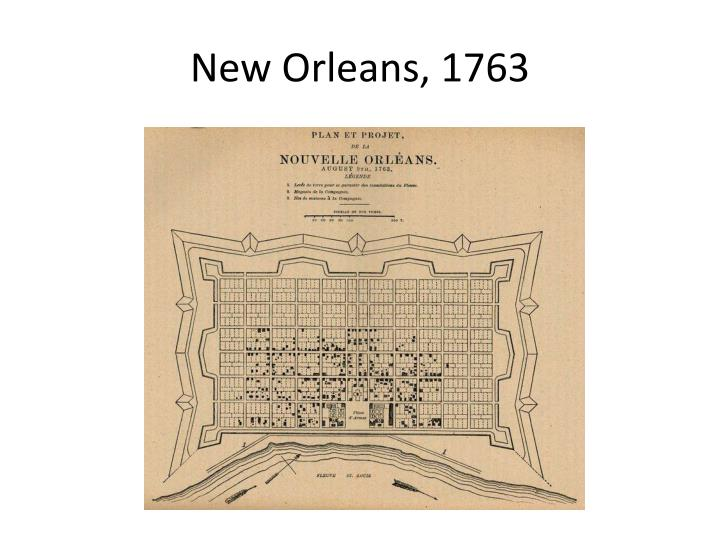 New Orleans, 1763