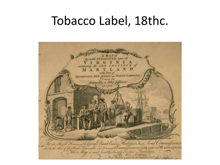 Tobacco Label, 18thc.