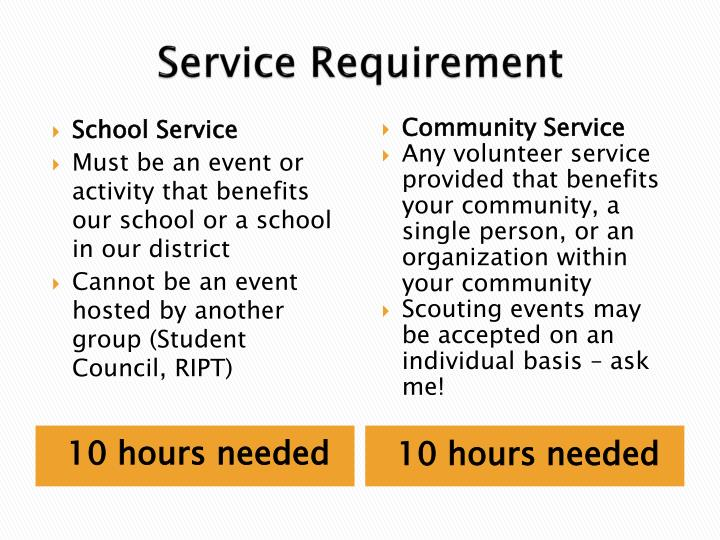 Service Requirement