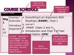 course schedule1
