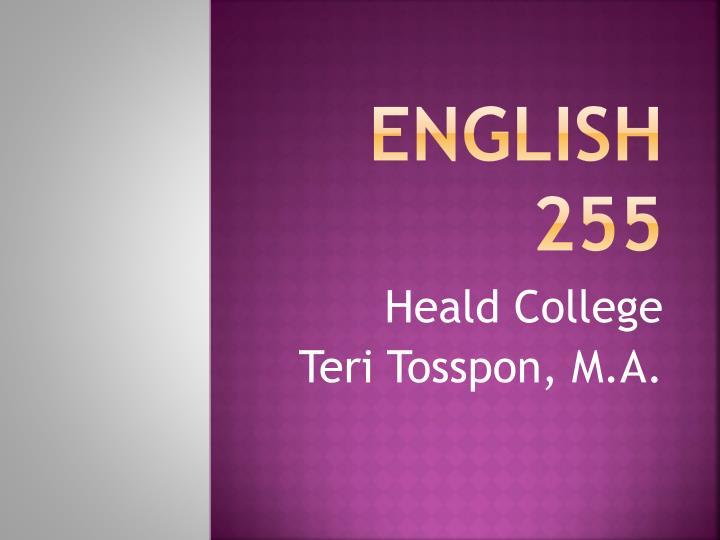 English 255