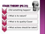 stasis theory pg 21