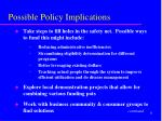 possible policy implications