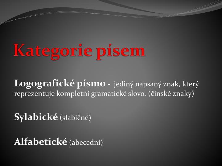 Kategorie písem