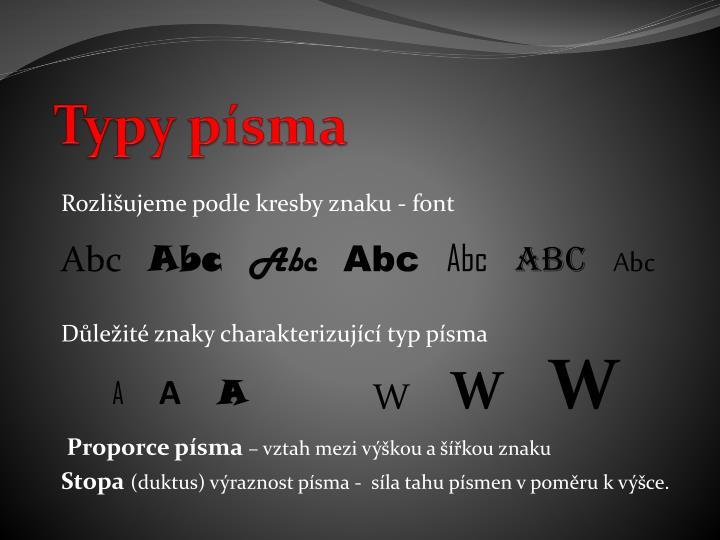 Typy písma