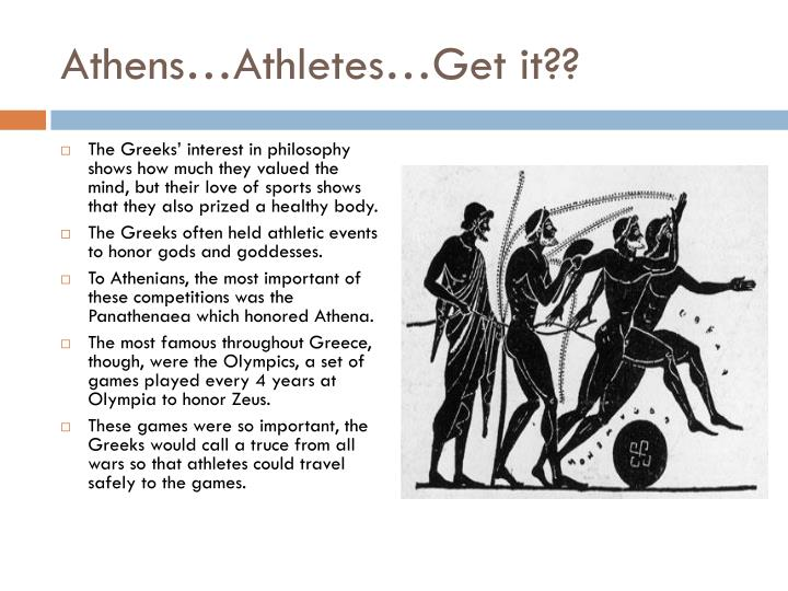 Athens…Athletes…Get it??