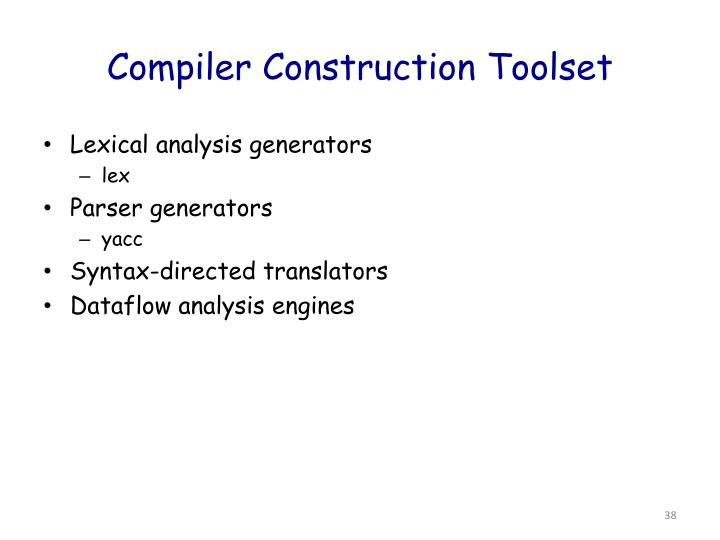 Compiler Construction Toolset