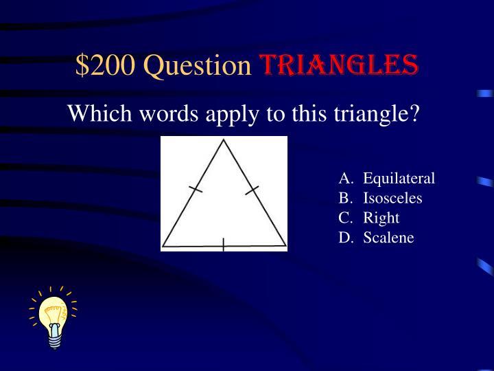 $200 Question