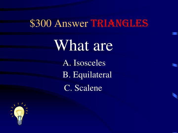 $300 Answer
