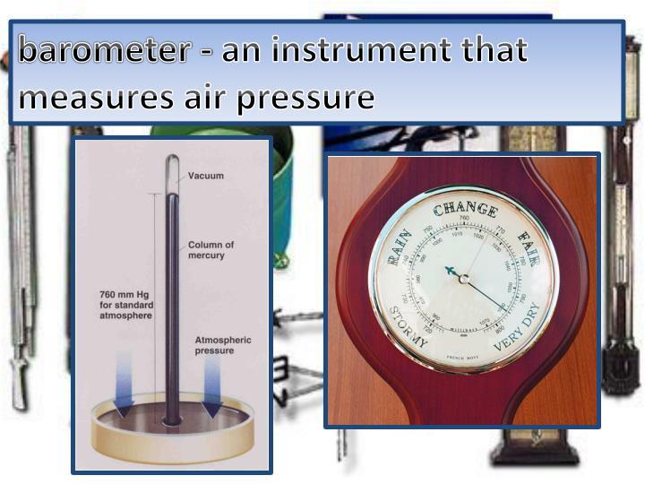 barometer -