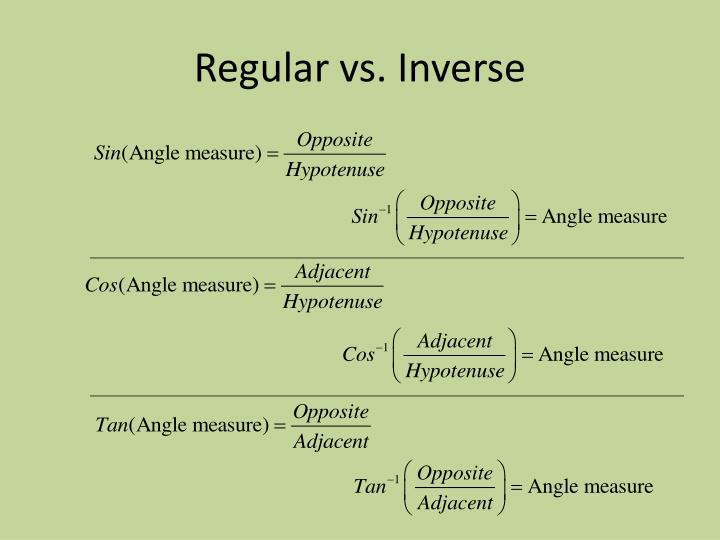 Regular vs. Inverse