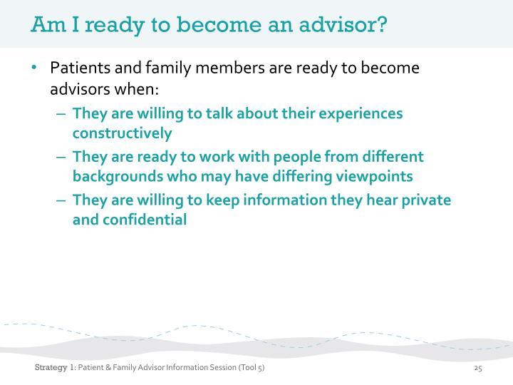Am I ready to become an advisor?