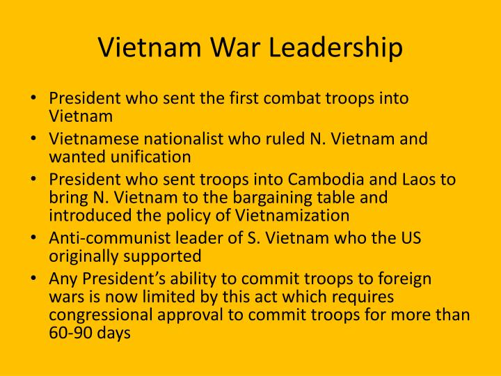 Vietnam War Leadership