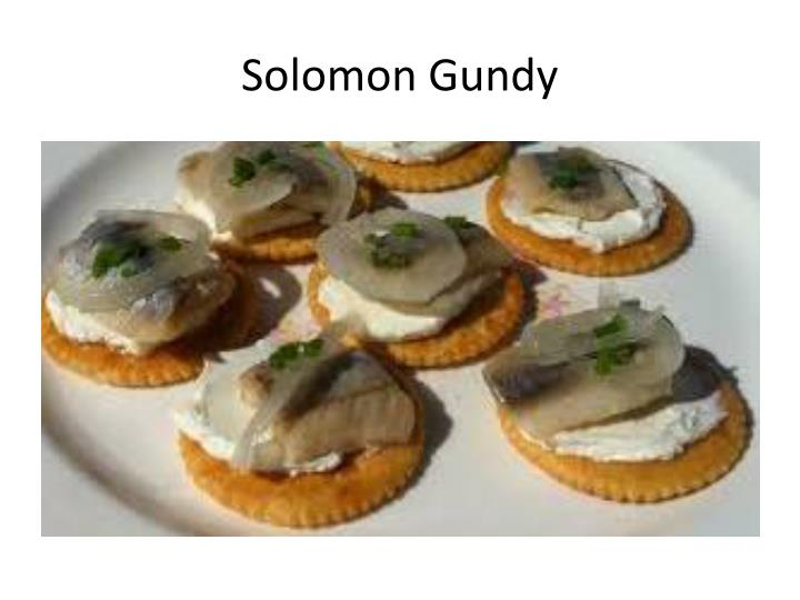 Solomon Gundy