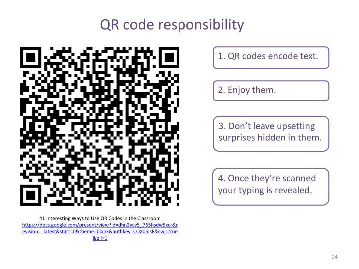 QR code responsibility