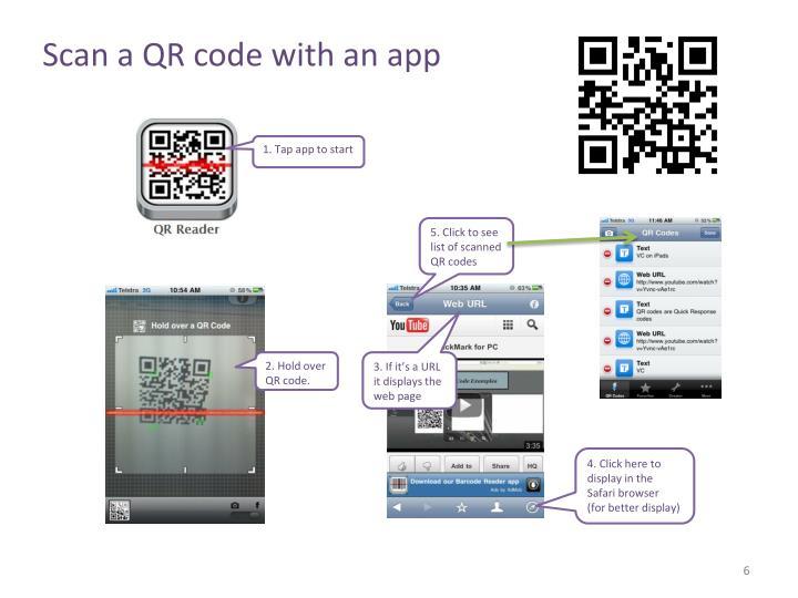 Scan a QR code with an app