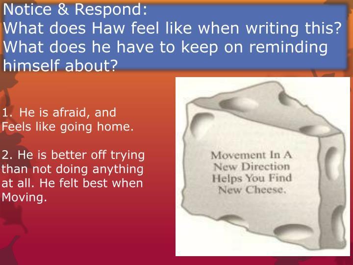 Notice & Respond: