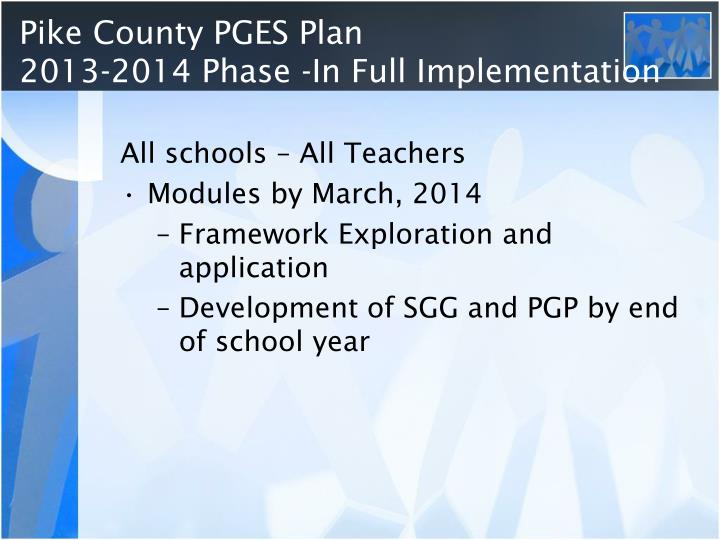 Pike County PGES Plan