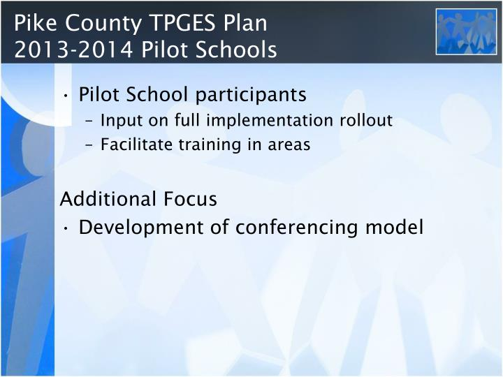 Pike County TPGES Plan