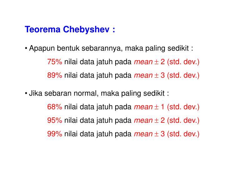 Teorema Chebyshev :