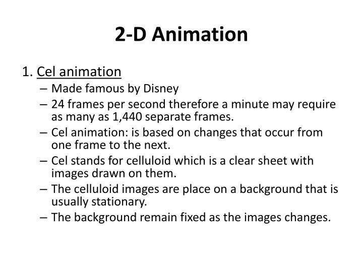 2-D Animation