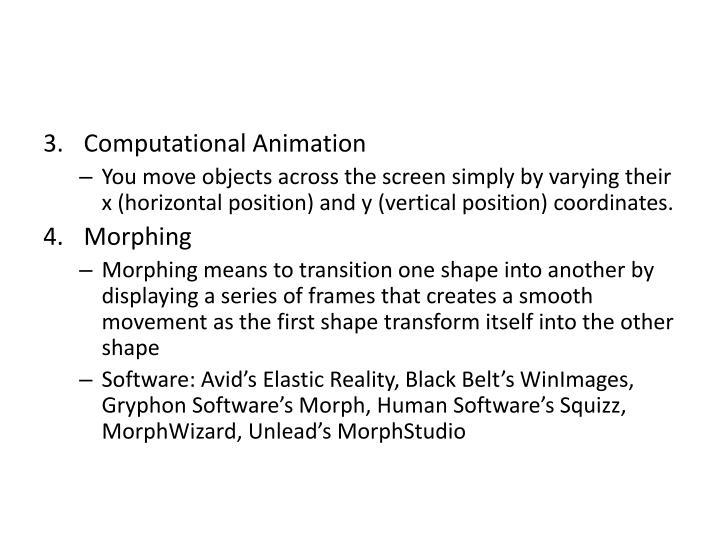 Computational Animation