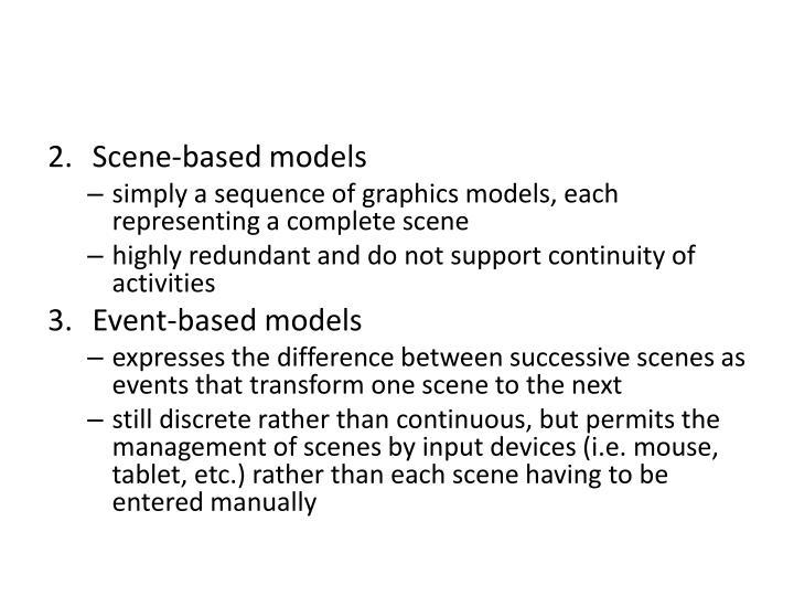 Scene-based models