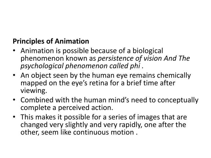 Principles of Animation