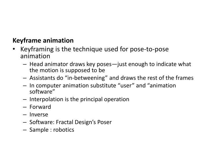 Keyframe animation