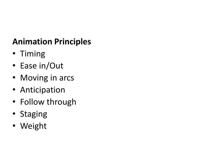 Animation Principles