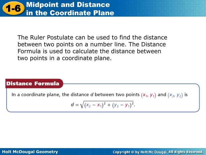 how to find distance between two points without a graph