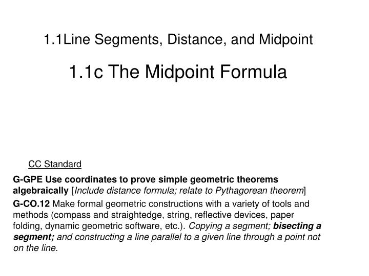 1 1line segments distance and midpoint