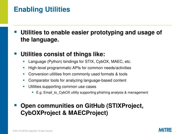 Enabling Utilities