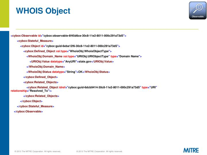 WHOIS Object