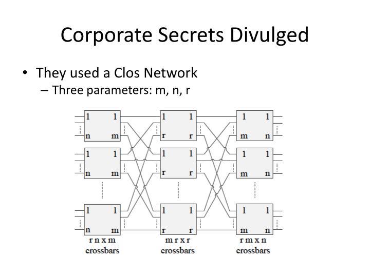 Corporate Secrets Divulged