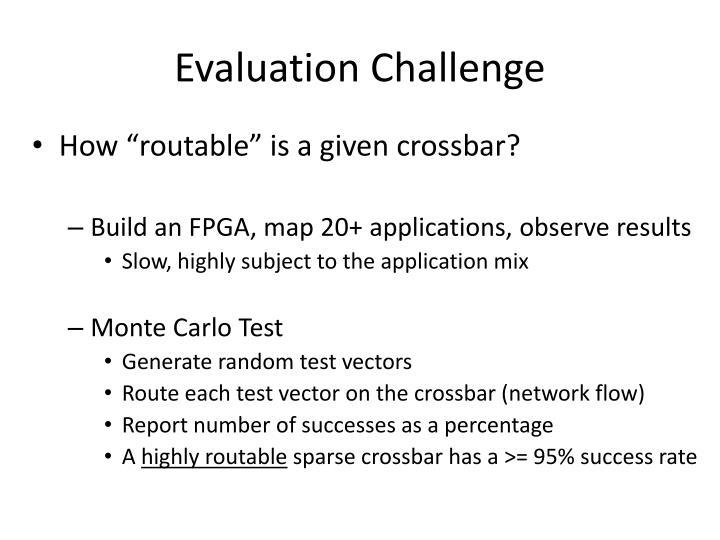 Evaluation Challenge