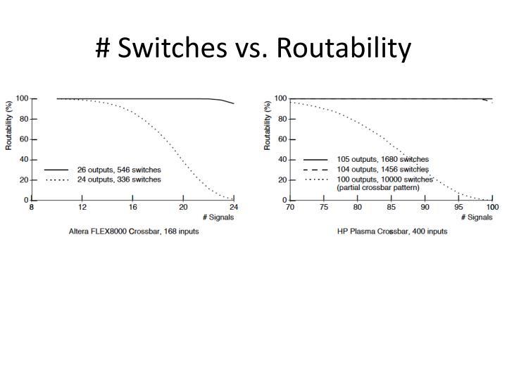 # Switches vs.
