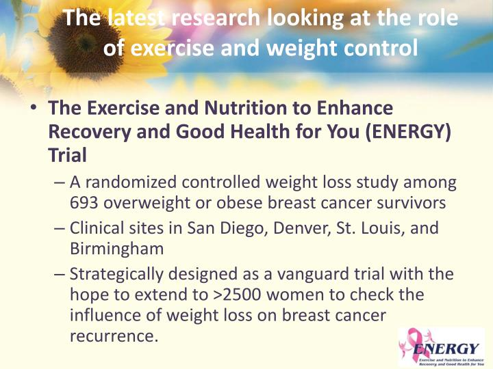 The latest research looking at the role of exercise and weight