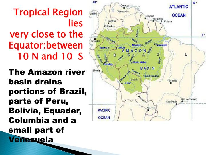 Tropical Region lies