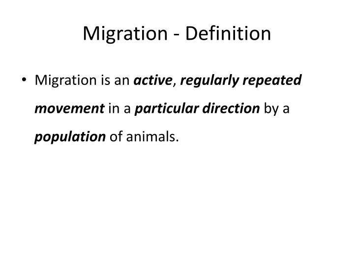 Migration - Definition