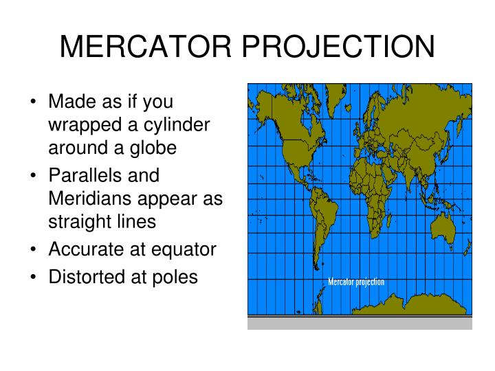 geometry - Mercator versus cylindrical projections ...   Mercator Projection Cylinder