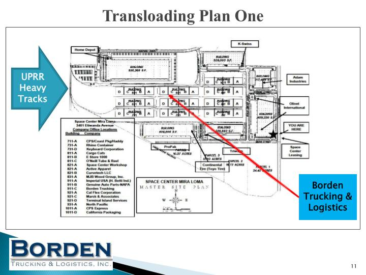 Transloading Plan One