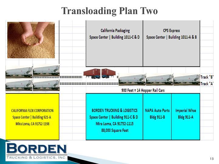 Transloading Plan Two