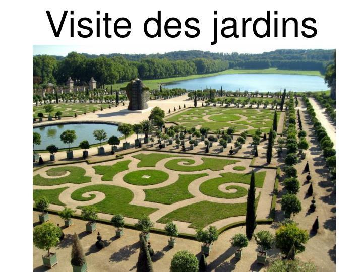 Visite des jardins