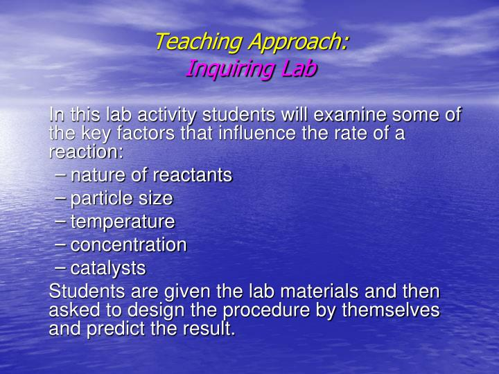 Teaching Approach: